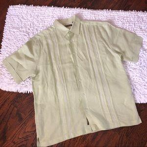Cubavera Men's Linen Blend Lounge Shirt